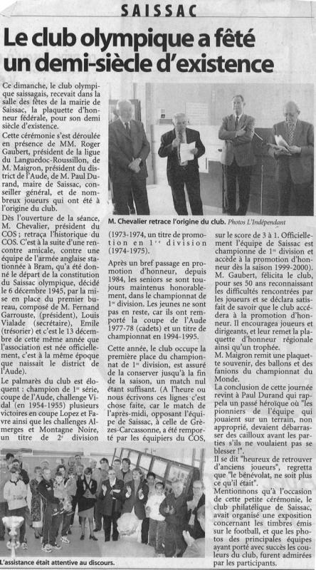 1999 ceremonie du cos 1