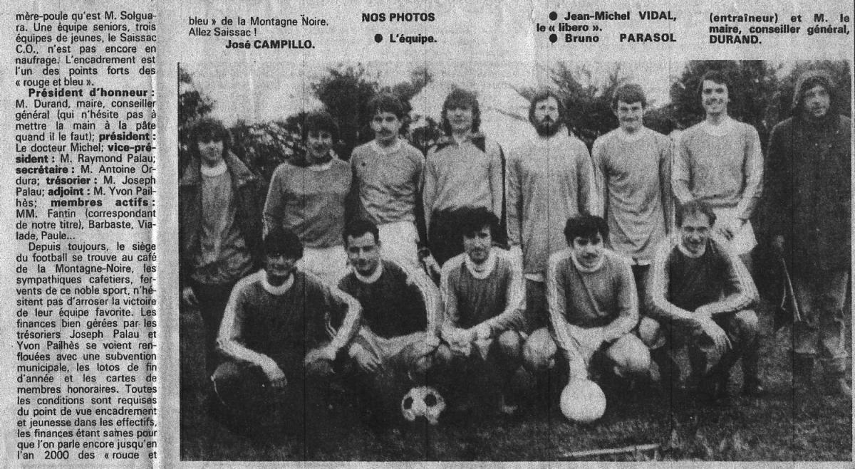 Club de la semaine 1985 1