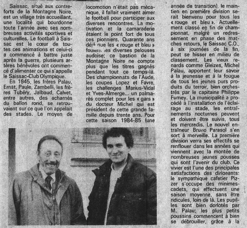Club de la semaine 1985 2