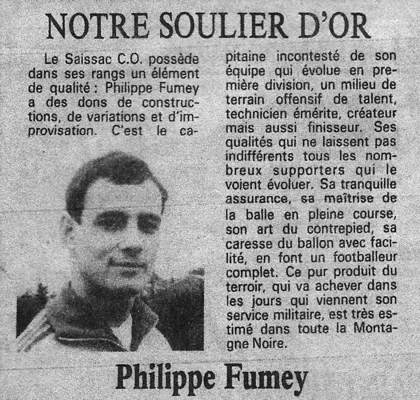 Soulier d or 85